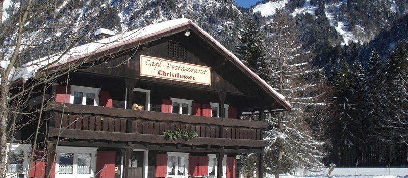 Cafe Restaurant Christlessee in der Wintersonne