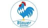 Logo Blauer Gockel Weiß