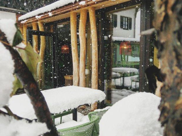 April-Schnee in Oberstdorf
