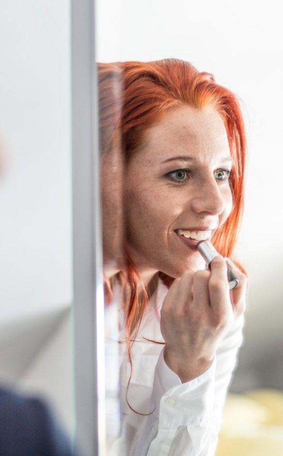 Models im Spiegel