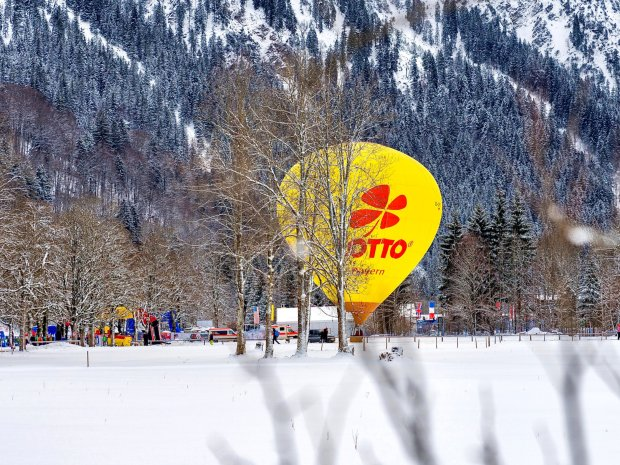 Balonglühen im winterlichen Oberstdorf