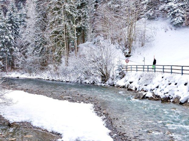 Winterwandern entlang der Breitach