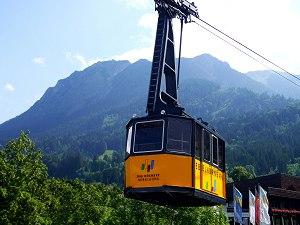 Nebelhornbahn an der Talstation