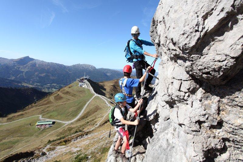 Klettersteig Kleinwalsertal : Erlebnis klettersteig kanzelwand kleinwalsertal teil youtube