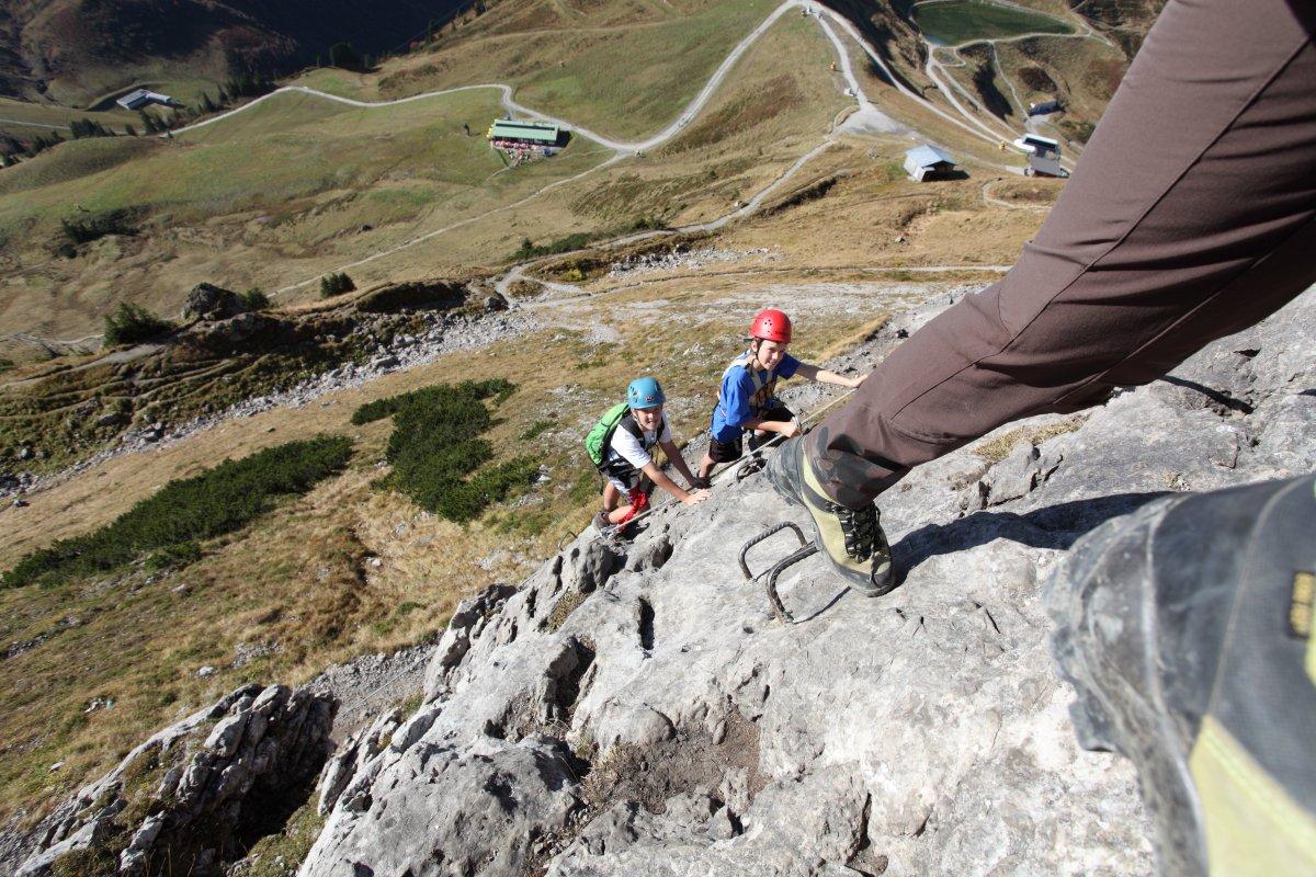 Klettersteig Kleinwalsertal : Kanzelwand erlebnis klettersteig