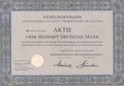 Nebelhornbahn-Aktie
