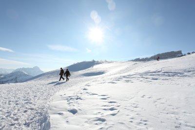 Genussvoll wandern in der Winterlandschaft
