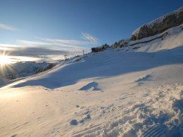 Aussicht auf die Hahnenköpfle-Bergstation
