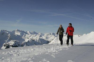 Frisch präpariert, der Winterwanderweg zum Zeigersattel