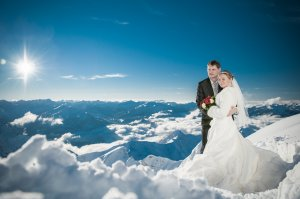 Heiraten im Winter auf dem Nebelhorn