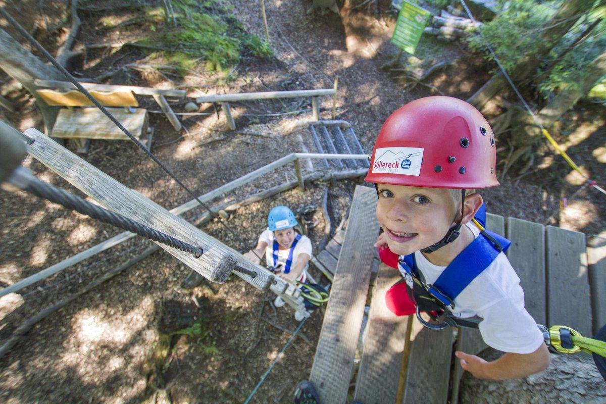 Großer Spaß im Kletterwald am Söllereck