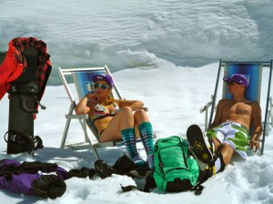 Frühling in den Skigebieten