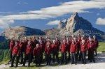 Der Montanara Chor in seiner Heimat, den Dolomiten