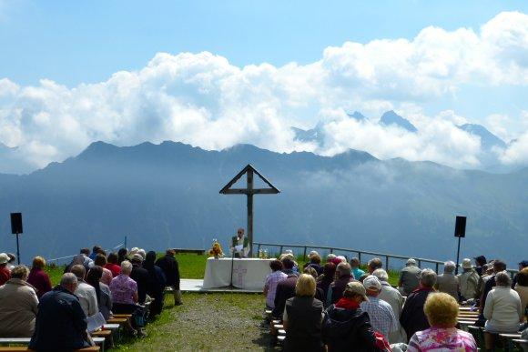Katholische Bergmesse auf dem Fellhorn