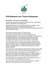 VDS Statement zum Thema Klimawandel