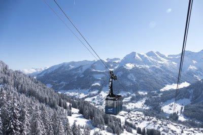 Walmendingerhornbahn hoch über Mittelberg