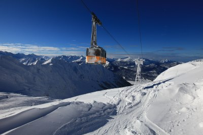 Nebelhornbahn über Oberstdorf