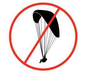 Gleitschirm-Flugverbot