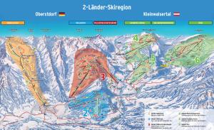 Pistenpanorama Oberstdorf-Kleinwalsertal
