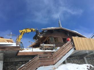 Abbruch der alten Gipfelhütte