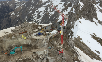 Überblick Baustelle Nebelhorn
