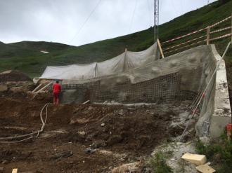 Hangsicherung an der neuen Bierenwangbahn Bergstation