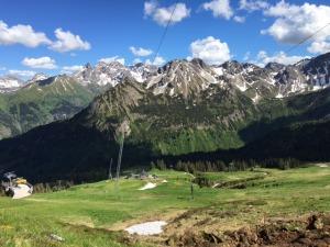 Ausblick von der zukünftigen Bergstation der Bierenwangbahn