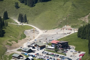 Überblick über die Baustelle Talstation Olympiabahn