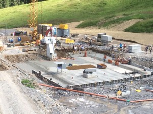 Baufortschritt Olympiabahn Talstation - 20.07.2015