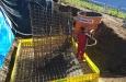 Betonierungsarbeiten Fundament Stütze 6