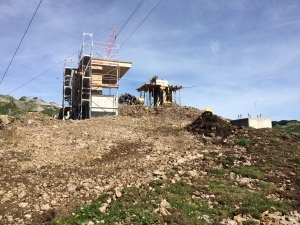 Bauforschritt Bergstation 6-er Sesselbahn Ifen