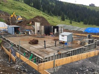 Eisenbewehrung Bodenplatte Talstation
