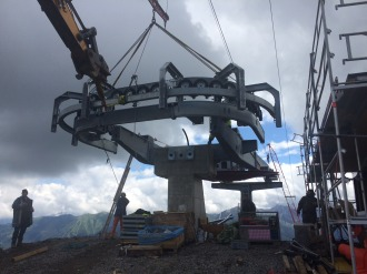 Montage Seilbahntechnik Bergstation