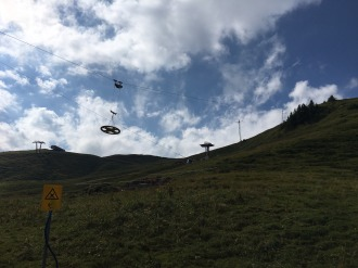 Transport der Umlenkscheibe für die Bergstation