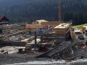 Baufortschritt Talstation - 02. September