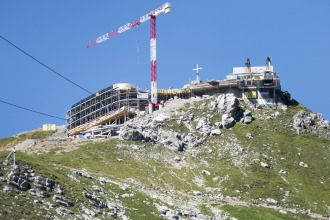 Blick auf die neue Bergstation