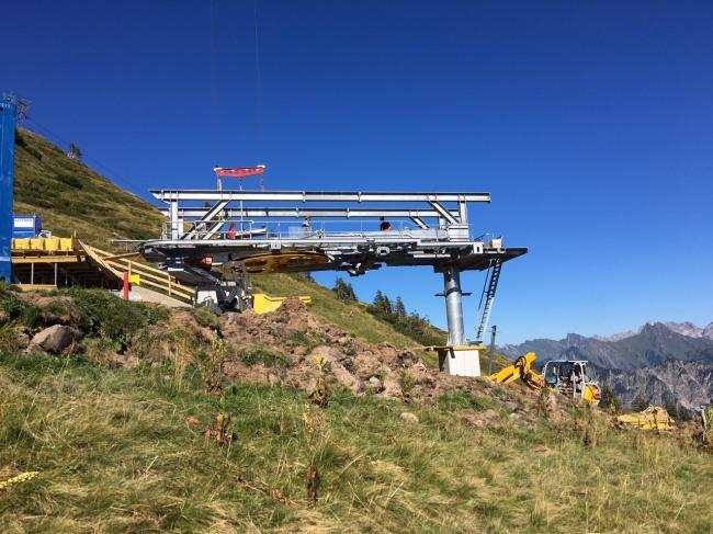 Baufortschritt Bergstation