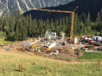 Baufortschritt Talstation Bierenwangbahn