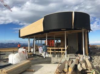 Baufortschritt beim Erdgeschoss