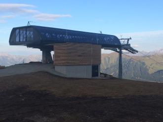 Bergstation von oben Detail
