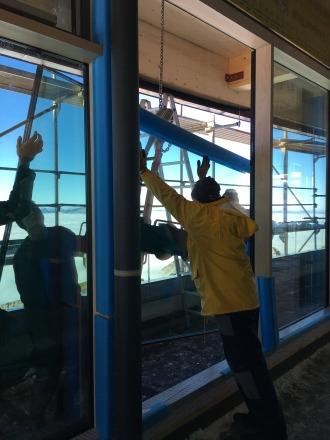 Einbau der Fenster