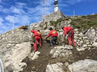 Renaturierung am Nebelhorngipfel
