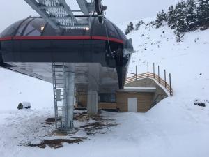 Frontaler Blick auf die neue Bergstation
