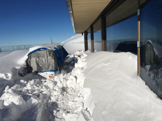 Wintereinbruch am Nebelhorn Gipfel