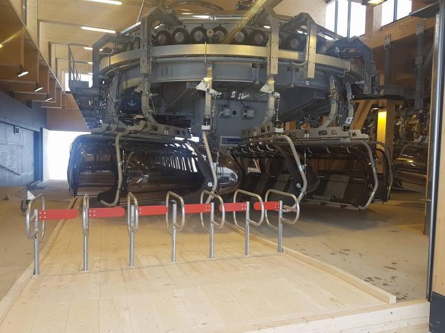 Olympiabahn Talstation von innen