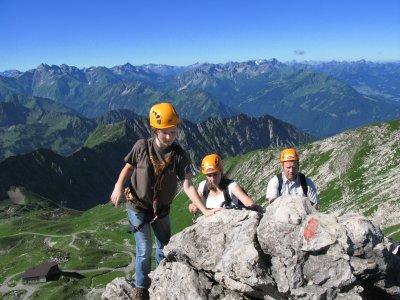 Wünderschöne Aussicht auch beim Klettern