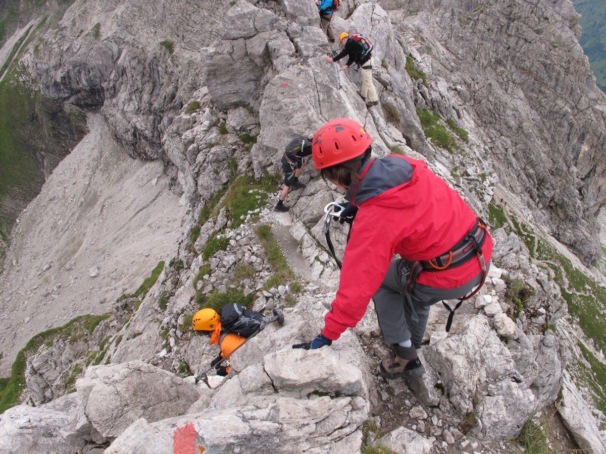 Klettersteig Immenstadt : Weg nr. 9 hindelanger klettersteig am nebelhorn