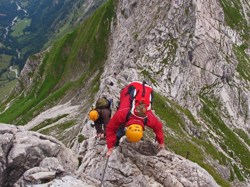 Hindelanger Klettersteig Wengenkopf : Weg nr. 9 hindelanger klettersteig am nebelhorn