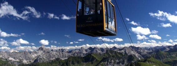 Nebelhornbahn mit wunderschönem Bergpanorama