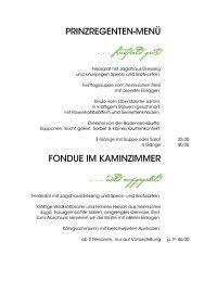 Speisekarte (Änderungen vorbehalten) 2019